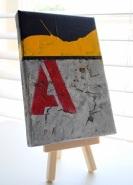 """""""A is for Abdera,"""" 5x4,"""" Jean Vengua"""